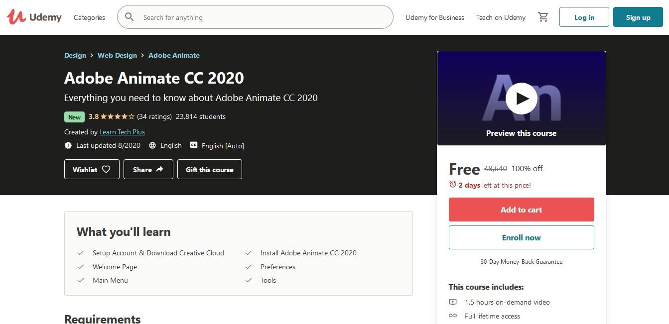 Adobe Animate CC 2020 Online Course