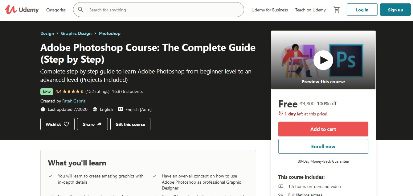 Adobe Photoshop Course The Complete Guide (Step by Step) Online Course