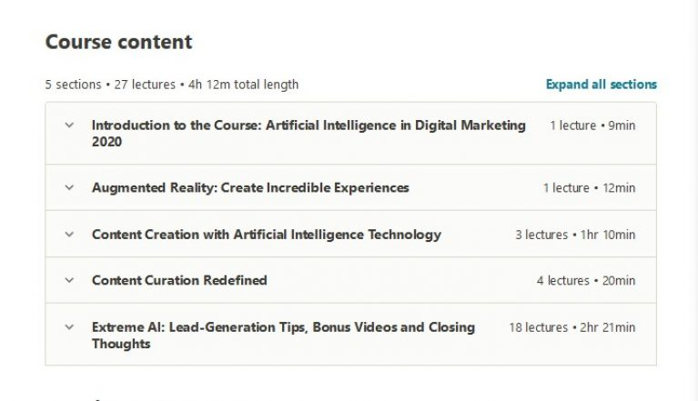 Artificial Intelligence in Digital Marketing Certification Course