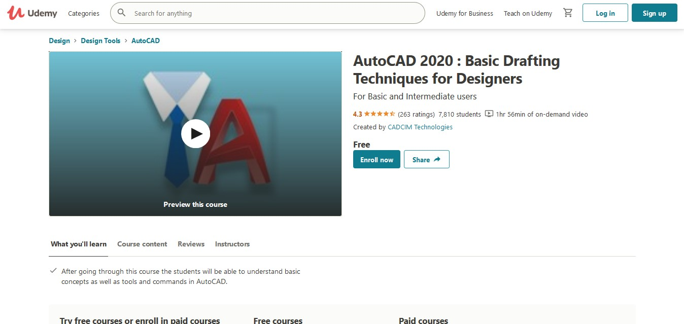 AutoCAD 2020 Basic Drafting Techniques for Designers