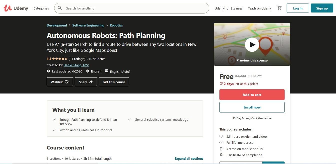 Autonomous Robots Path Planning
