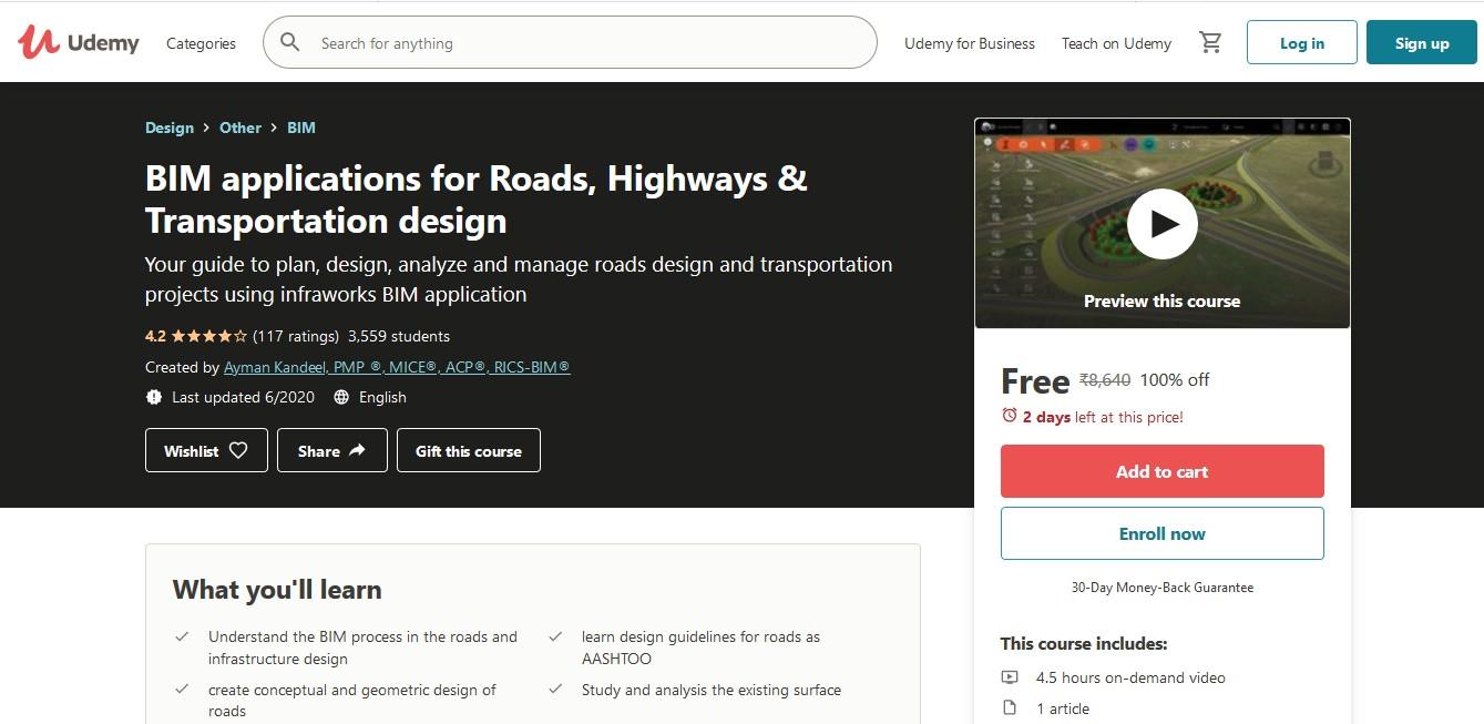 BIM applications for Roads, Highways & Transportation design