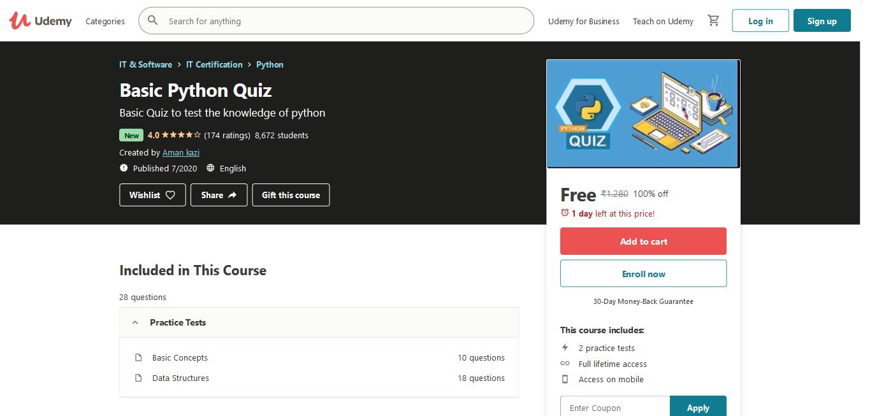 Basic Python Quiz