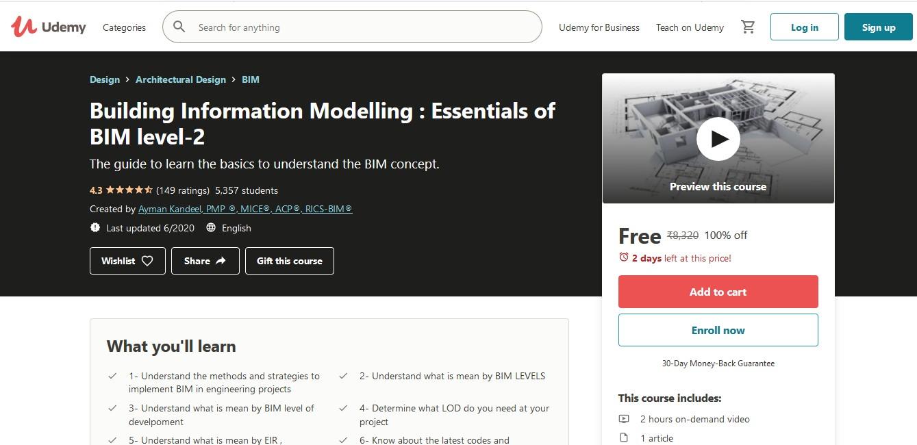 Building Information Modelling Essentials of BIM level-2