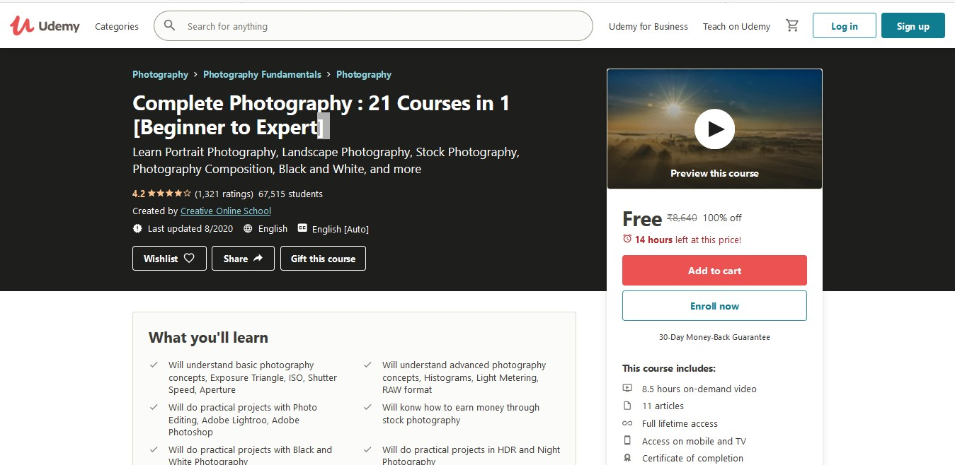 Complete Photography 21 Courses in 1 [Beginner to Expert]
