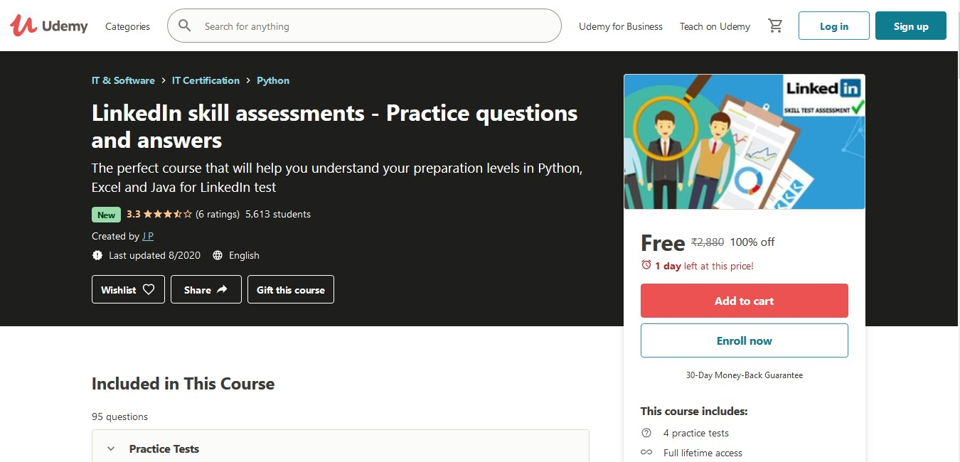 LinkedIn Skill Assessments Practice Questions and Answers