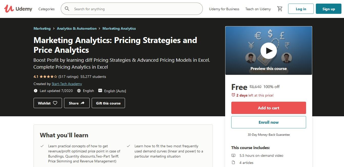 Marketing Analytics Pricing Strategies and Price Analytics