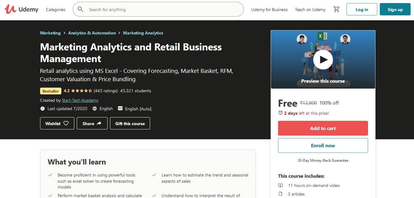 Marketing Analytics and Retail Business Management