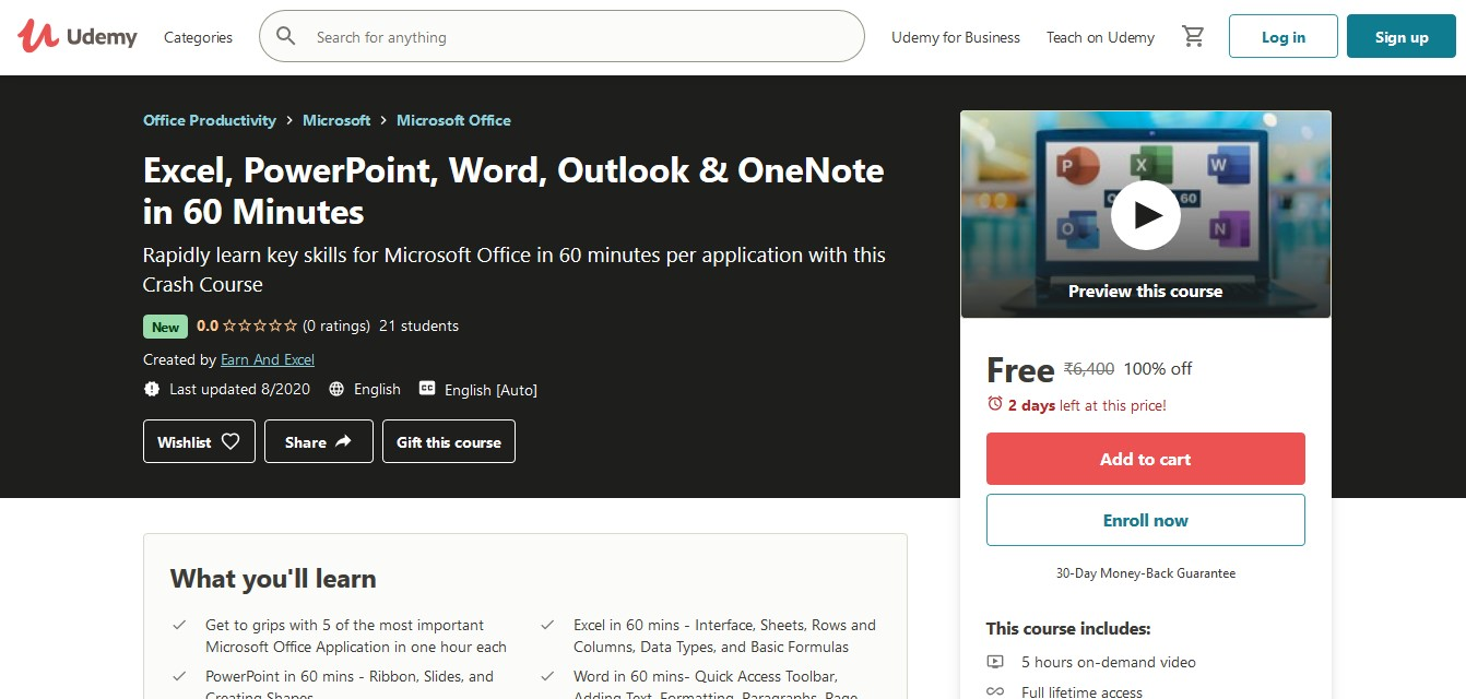 Microsoft Office and Excel courses, PowerPoint, Word, Outlook & OneNote in 60 Minutes