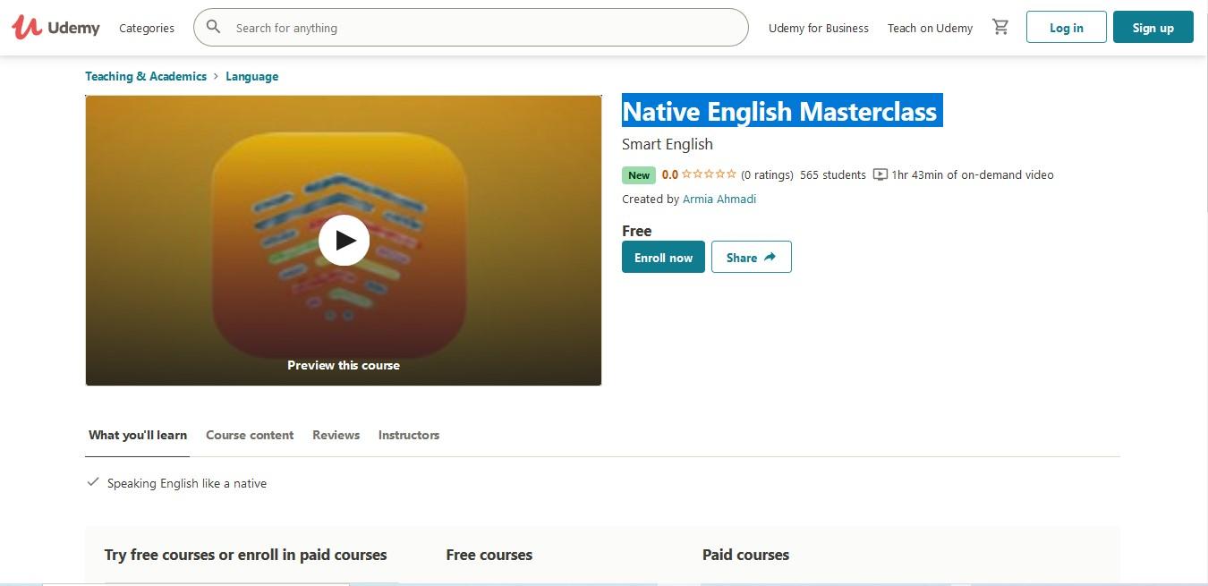 Native English Masterclass