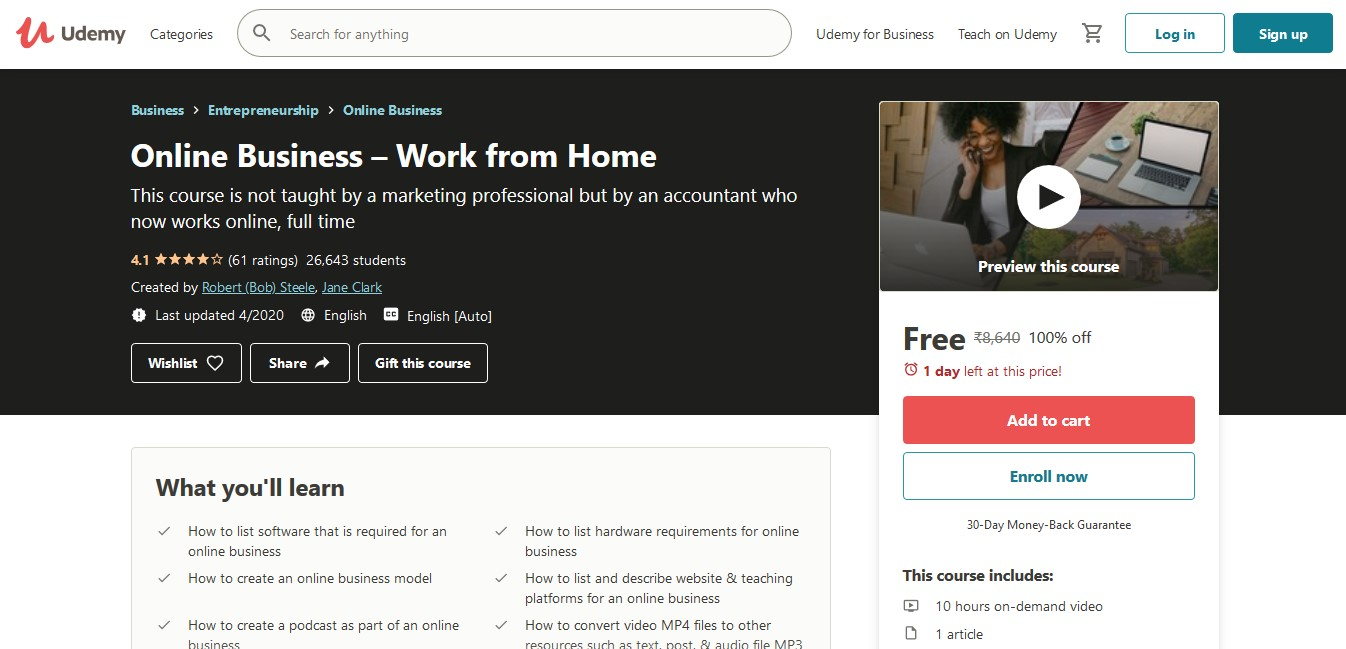 Online Business Work from Home