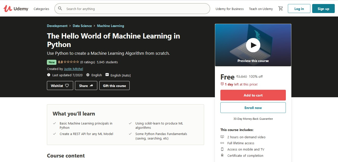 The Hello World of Machine Learning in Python