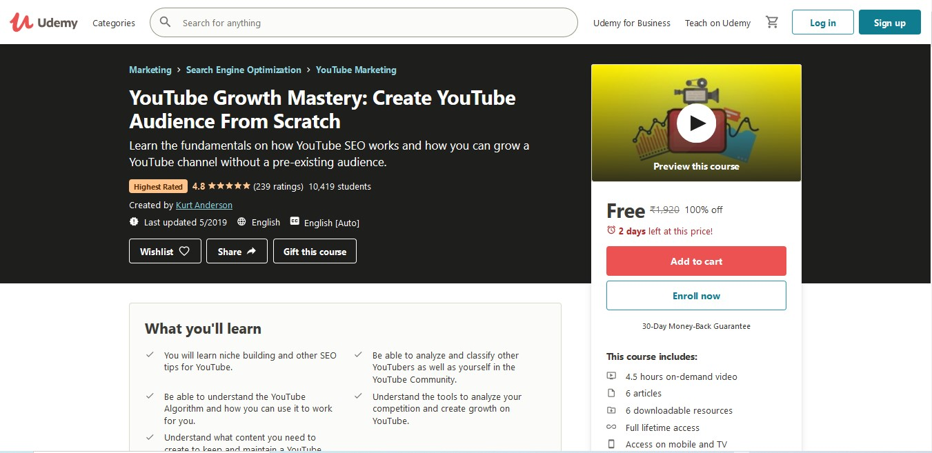 YouTube Growth Mastery Create YouTube Audience From Scratch