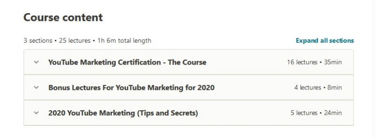YouTube Marketing Certification course